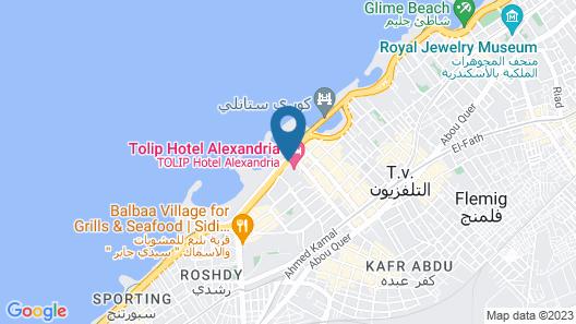 Tolip Alexandria Map