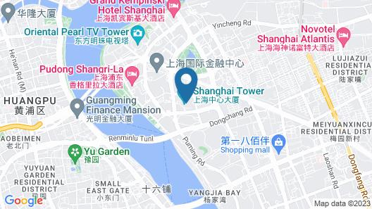 J Hotel, Shanghai Tower Map