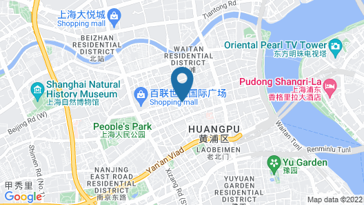 Central Hotel Shanghai Map