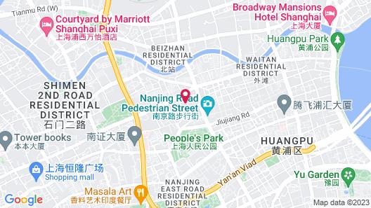 Le Royal Meridien Shanghai Map