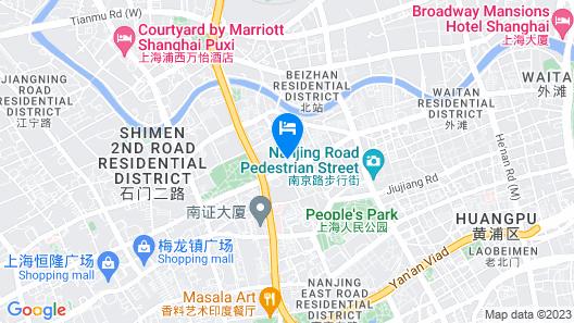 Jin Jiang Pacific Hotel Shanghai Map