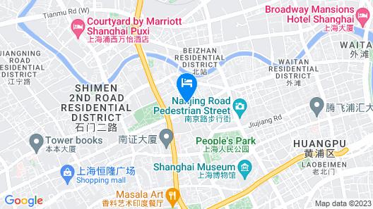 Radisson Blu Hotel Shanghai New World Map