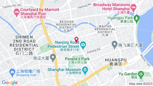 Shanghai Marriott Hotel City Centre Map