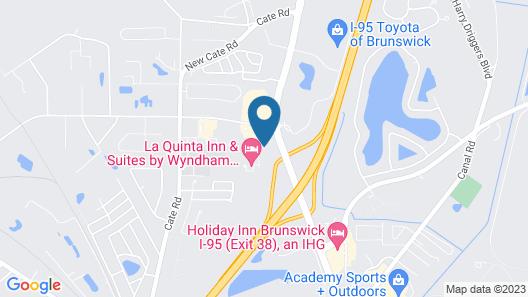 Hampton Inn & Suites Brunswick Map