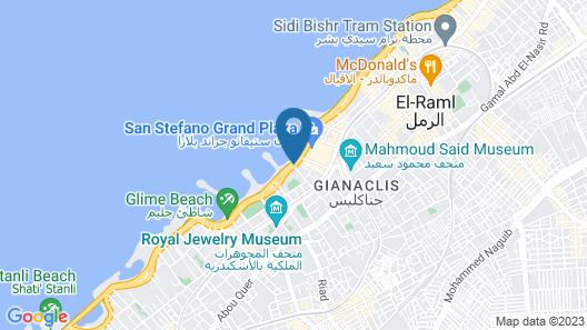 Plaza Hotel Alexandria Map