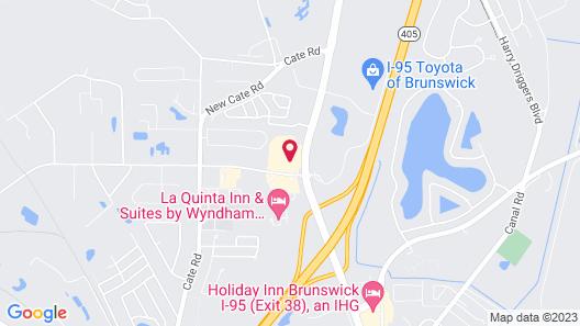 Sleep Inn And Suites Brunswick Map