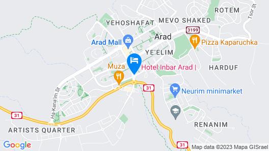 Inbar Hotel Map