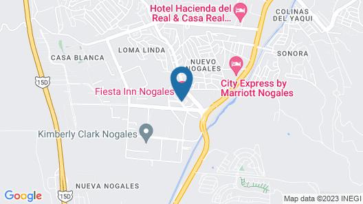 Fiesta Inn Nogales Map