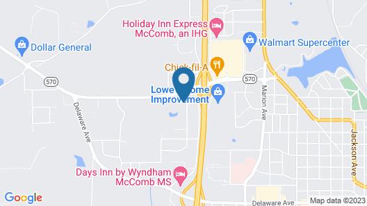 Hampton Inn & Suites McComb Map