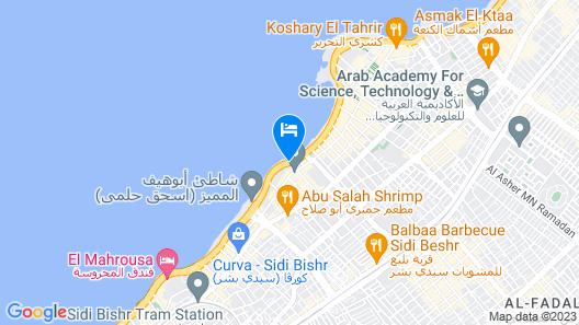 Hilton Alexandria Corniche Map