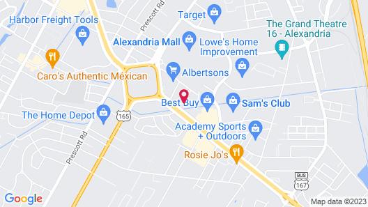 Courtyard by Marriott Alexandria Map
