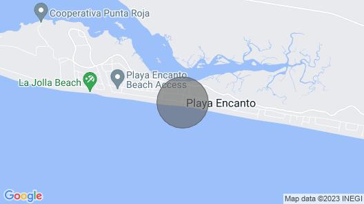 Casita By The Sea Playa Encanto, Mexico Map