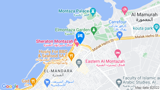 Sheraton Montazah Hotel Map