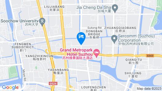 Grand Metropark Hotel Suzhou Map