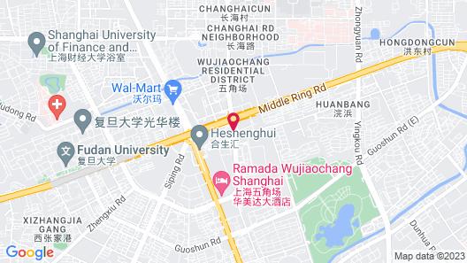 Hyatt Regency Shanghai, Wujiaochang Map