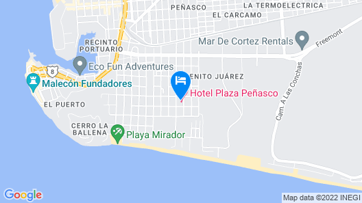 Hotel Plaza Peñasco Map