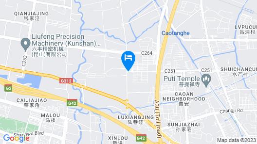GreenTree Inn Jiangsu Suzhou Kunshan Huaqiao Household Building Materials City Shell Hotel Map