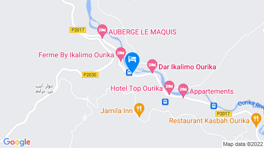 Hotel Top Ourika Map