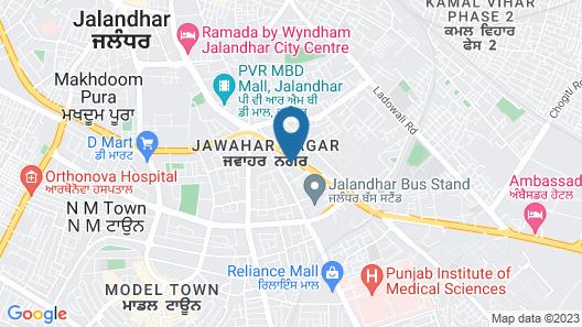 AB Clarks Inn Jalandhar Map