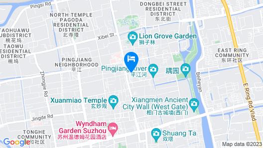 Zhenchuang Tingyu Pingjiang Inn No.1 Map