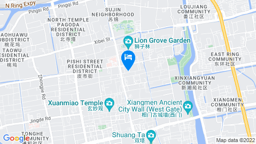 Lavande Hotel Suzhou Guanqian Pedestrain Branch Map