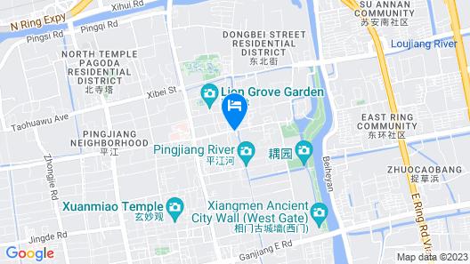 Suzhou Tianyiju Inn ZhuoZhengYuan Map