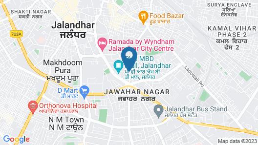 Aveda Kamal Palace Map