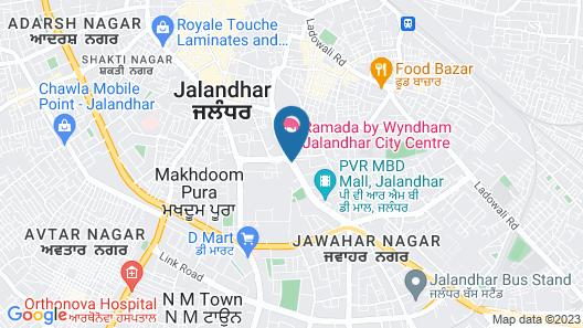 Ramada by Wyndham Jalandhar City Centre Map