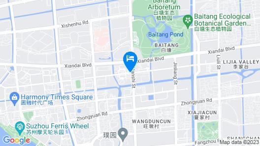 Hilton Suzhou Map