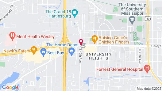 Fairfield Inn by Marriott Hattiesburg Map