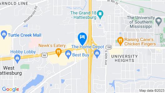 Red Lion Inn & Suites Hattiesburg Map