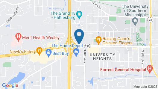 Days Inn by Wyndham Hattiesburg MS Map