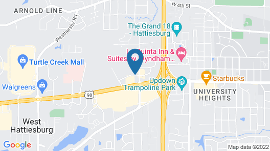 Microtel Inn & Suites by Wyndham Hattiesburg Map