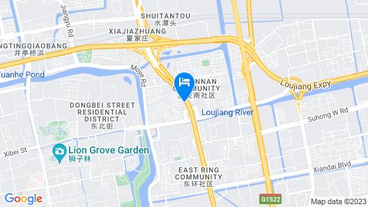 Greentree INN Suzhou Park Donghuan Road Shell Hote Map