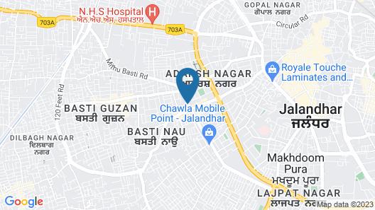 Hotel Inder Prasth Map