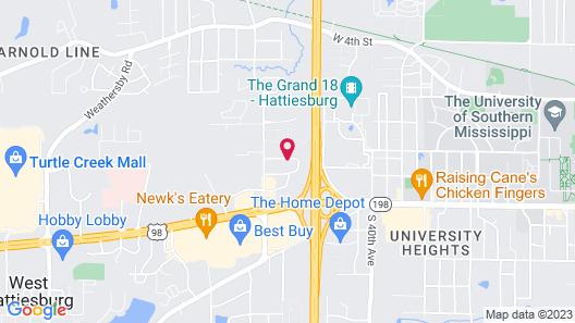 Hilton Garden Inn Hattiesburg Map
