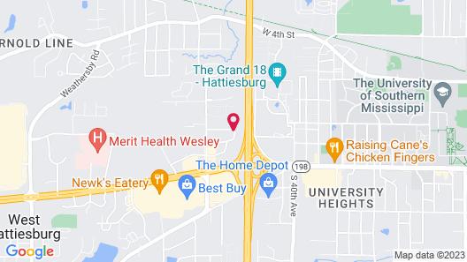 Baymont by Wyndham Hattiesburg Map