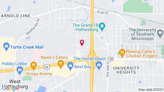 Comfort Suites Hattiesburg Map
