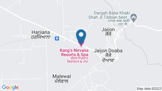 Kangs Nirvana Resorts and Spa Map