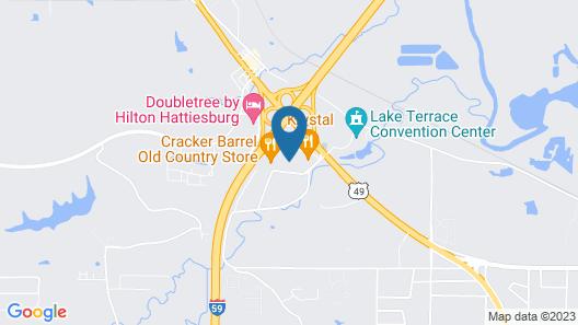 Econo Lodge Hattiesburg Map