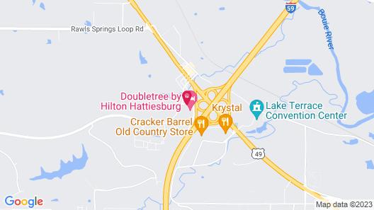 Doubletree by Hilton Hattiesburg, MS Map
