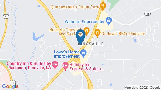 OYO Hotel Pineville LA Hwy 165 Map