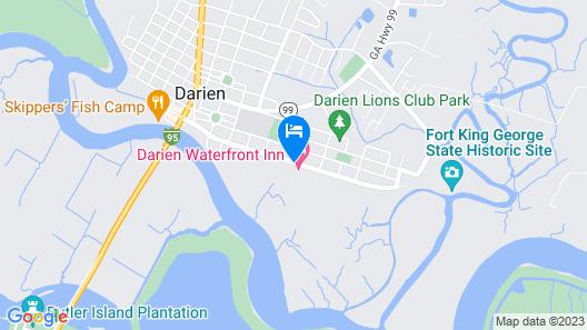 Darien Waterfront Inn Map