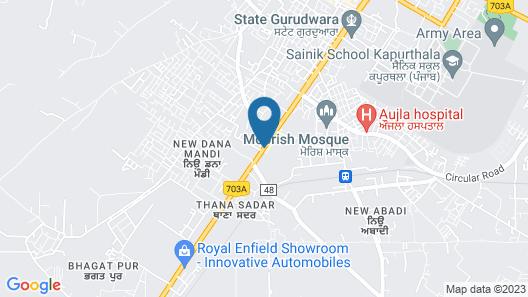 Best Western Kapurthala Map