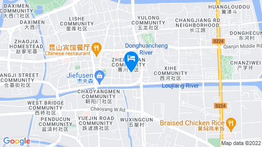 GreenTree Inn Suzhou Kunshan Paris Spring Express Hotel Map