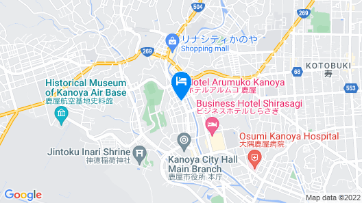 OYO New World Hotel Kagoshima Kanoya Map