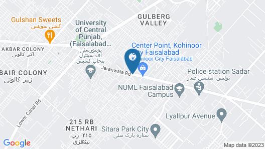 Avari Xpress Faisalabad Map