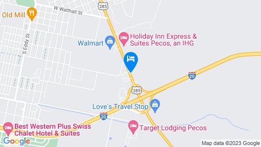 Quality Inn Pecos Map