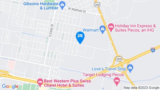 Staybridge Suites Pecos Map