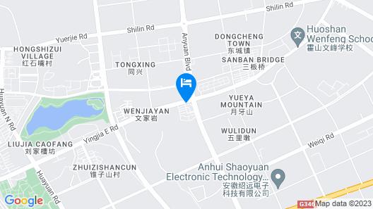 GreenTree Inn LiuAn Huoshan County Economic Development Zone Hotel Map